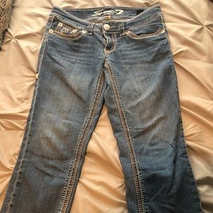 7 For All Mankind Pants - Denim Capris - Seven for all Mankind